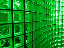 Green Glass Block Stock Image
