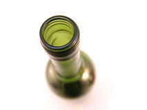 Green glass bottle Royalty Free Stock Images