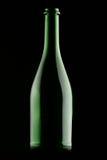 Green Glass Bottle Stock Photography