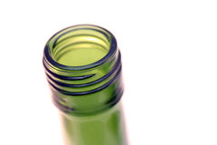 Green glass bottle Stock Photo