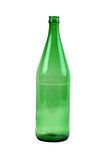 Green glass bottle Stock Images