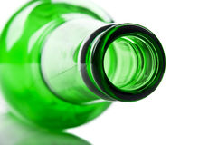 Green and glass bottle Royalty Free Stock Photo