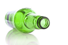 Green glass bottle Stock Photography