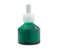 Green glass bottle Stock Image