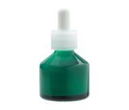 Green glass bottle Stock Image