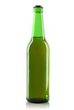 Green glass bottle of beer. Stock Images