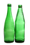 Green glass bottle Stock Photos