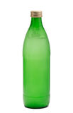 Green glass bottle Stock Photos