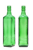 Green glass bottle. Isolated on white background Royalty Free Stock Images