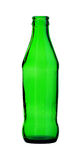Green Glass Bottle isolated on white background Royalty Free Stock Photo