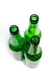 The green glass bottles. Royalty Free Stock Photos