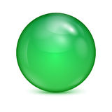 Green glass bowl Stock Image