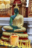 Green glass Buddha statue in Doi Suthep, Chiang Mai Royalty Free Stock Image