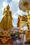 Green Glass Buddha Statue at the Golden Mount, Wat Phra That Doi Suthep, Chiang Mai, Thailand Stock Images