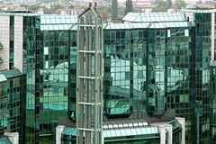 Green glass building Royalty Free Stock Images