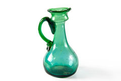 Green glass carafe Stock Images