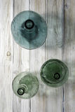 Green glass carafes Royalty Free Stock Images