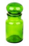 Green glass chemical bottle Stock Photo