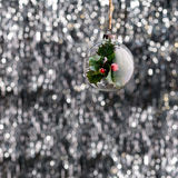 Green glass Christmas bauble Royalty Free Stock Photo