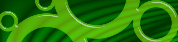 Green Glass Circles Banner Stock Images