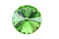 Green glass diamond isolated Stock Image