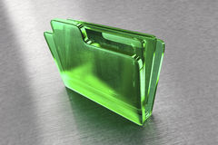 Green glass file folder Stock Photo