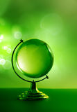 Green glass globe Royalty Free Stock Photo