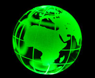 Green Glass globe Royalty Free Stock Photos