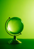 Green glass globe Royalty Free Stock Images