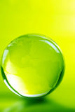 Green glass globe stock photo