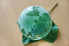 Green glass globe. (East Asia) Stock Photography