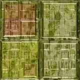 Green glass mosaic square tiles seamless Royalty Free Stock Photo