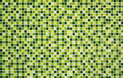 Green glass mosaic vibrant on the wall for background Royalty Free Stock Photos