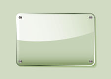 Green glass name tag Stock Photography