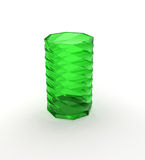 Green glass over white Royalty Free Stock Photo