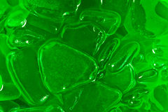 Green glass parts. A small green glass parts Royalty Free Stock Images