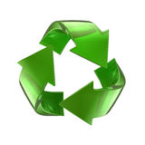 Green glass recycle symbol. 3d render of a green glass recycle symbol Stock Photo