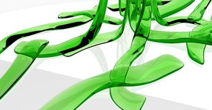 Green Glass Ribbons Royalty Free Stock Photo