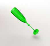Green glass with shadow Royalty Free Stock Image