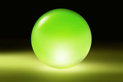 Green glass sphere Stock Photo