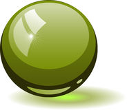 Green glass sphere Royalty Free Stock Images