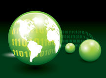 Green glass sphere. Royalty Free Stock Photos