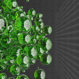 Green glass sphere Royalty Free Stock Image