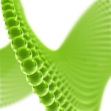 Green glass spheres over white background. Green glass spheres on the white background vector illustration