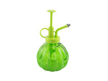Green glass spray bottle Royalty Free Stock Photo