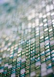 Green glass square. In perspective Stock Photography