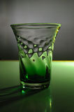 Green Glass Still Life Royalty Free Stock Photography