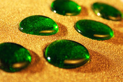 Green glass stones Royalty Free Stock Photography