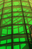 Green glass structure Royalty Free Stock Images