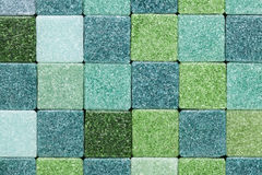 Green glass tiles Stock Photography